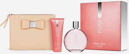 Roberto Verino Pure for Her - Duftset (Eau de Toilette/120ml + Körperlotion/50ml + Kosmetiktasche) — Bild N1