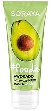 Düfte, Parfümerie und Kosmetik Pflegende Fußcreme-Maske mit Avocado - Soraya Foodie