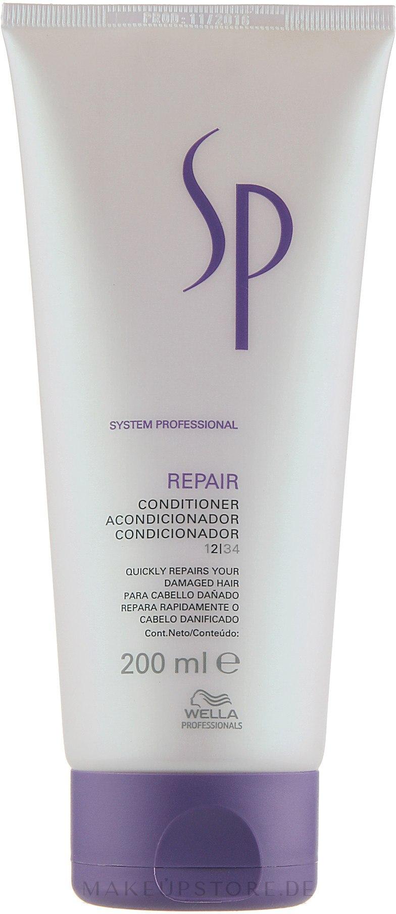 Regenerierende Haarspülung für geschädigtes, geschwächtes und sprödes Haar - Wella Professionals Wella SP Repair Conditioner — Bild 200 ml