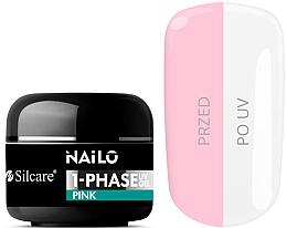 Düfte, Parfümerie und Kosmetik UV-Nagelgel leicht rosa - Silcare Nailo 1-Phase Gel UV Pink