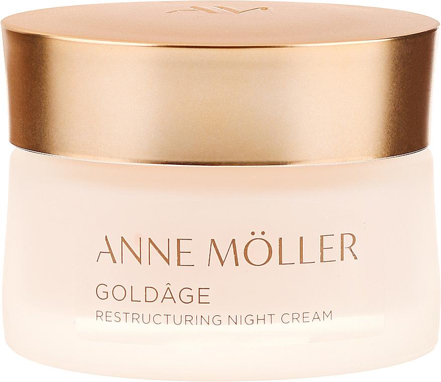 Reparierende und pflegende Nachtcreme - Anne Moller Goldage Restructuring Night Cream — Bild N2