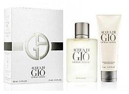 Düfte, Parfümerie und Kosmetik Giorgio Armani Acqua di Gio Pour Homme - Duftset (Eau de Toilette/50ml + After Shave Balsam/75ml)