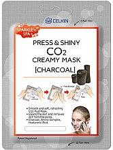 Düfte, Parfümerie und Kosmetik Gesichtsmaske mit Aktivkohle - Celkin Press & Shiny Creamy CO2 Mask