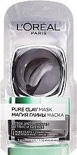 Düfte, Parfümerie und Kosmetik Reinigende Gesichtsmaske mit natürlichem Ton und Aktivkohle - L'Oreal Paris Skin Expert (Probe)