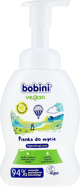 Veganer und hypoallergener Badeschaum für Kinder - Bobini Vegan — Bild N1