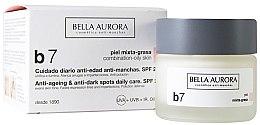 Düfte, Parfümerie und Kosmetik Straffende Depigmentierungscreme für fettige Mischhaut - Bella Aurora B7 Combination/Oily Skin Daily Anti-Dark Spot Care