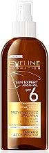 Düfte, Parfümerie und Kosmetik Bräunungsbeschleuniger für Strand und Solarium - Eveline Cosmetics Sun Expert Argan Oil Tanning Accelerator SPF 6