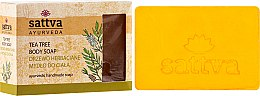 Düfte, Parfümerie und Kosmetik Sanfte Glycerinseife für den Körper Tea Tree - Sattva Hand Made Soap Tea Tree