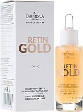 Düfte, Parfümerie und Kosmetik Algen-Gesichtskonzentrat mit kolloidalem Gold - Farmona Professional Retin Gold Concentrate