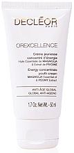 Düfte, Parfümerie und Kosmetik Energetisierende Anti-Aging Gesichtscreme mit ätherischem Magnolienöl und Pfingstrosenextrakt - Decleor Orexcellence Energy Concentrate Youth Cream (Salon Product)