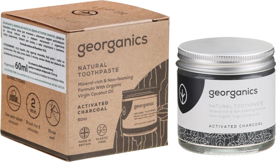 Natürliche und mineralstoffreiche Zahnpasta mit Aktivkohle - Georganics Activated Charcoal Natural Toothpaste — Bild N1