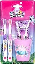 Düfte, Parfümerie und Kosmetik Zahnpflegeset für Kinder - Hatchimals (Zahnpaste 75ml + Zahnbürste 2St. + Glas)