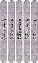 Düfte, Parfümerie und Kosmetik Ersatzfeilenblätter für Mineralfeilen gerade NFB-21/4 Körnung 100/100 - Staleks Pro Set Mineral Straight Nail File (5 St.)