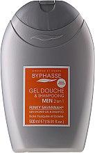 Düfte, Parfümerie und Kosmetik 2in1 Duschgel-Shampoo für Männer - Byphasse Men Shower Gel-Shampoo 2in1 Funky Savannah