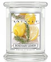 Düfte, Parfümerie und Kosmetik Duftkerze im Glas Rosemary Lemon - Kringle Candle Rosemary Lemon