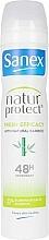 Düfte, Parfümerie und Kosmetik Deospray mit Bambusextrakt - Sanex Natur Protect 0% Fresh Bamboo Deo Vapo