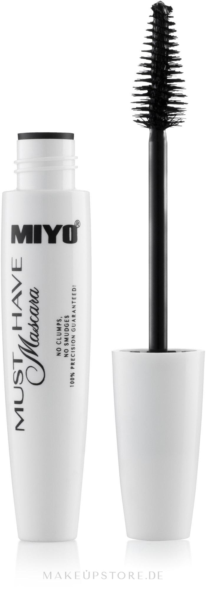 Wimperntusche für mehr Volumen - Miyo Must Have Mascara — Bild Black