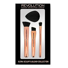 Düfte, Parfümerie und Kosmetik Make-up Pinsel mit Schminkschwamm - Makeup Revolution Ultra Sculpt & Blend Sponge Brush Collection