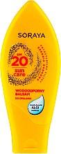 Düfte, Parfümerie und Kosmetik Feuchtigkeitsspendender und wasserfester Körperbalsam mit Sonnenschutz SPF 20 - Soraya Sun Care Waterproof Sun Balm SPF20