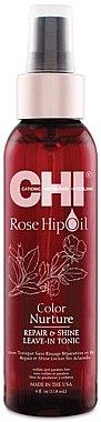 Pflegendes Tonikum für gefärbtes Haar - CHI Rose Hip Oil Repair & Shine Leave-In Tonic — Bild N1