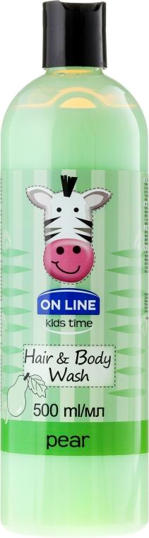 On Line Kids Time Hair & Body Wash Pear - 2in1 Shampoo und Duschgel für Kinder mit Birnenduft — Bild N1