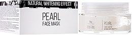 Düfte, Parfümerie und Kosmetik Reinigende und entgiftende Gesichtsmaske gegen dunkle Flecken mit Perlenpulver und weißem Ton - Hristina Cosmetics SM Crystal Pearl Face Mask