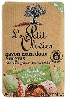 Seife mit Mandelöl - Le Petit Olivier Vegetal Oils Soap Sweet Almond Oil — Bild N1