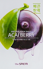 Düfte, Parfümerie und Kosmetik Tuchmaske für das Gesicht mit Acai-Berry - The Saem Natural Acai Berry Mask Sheet