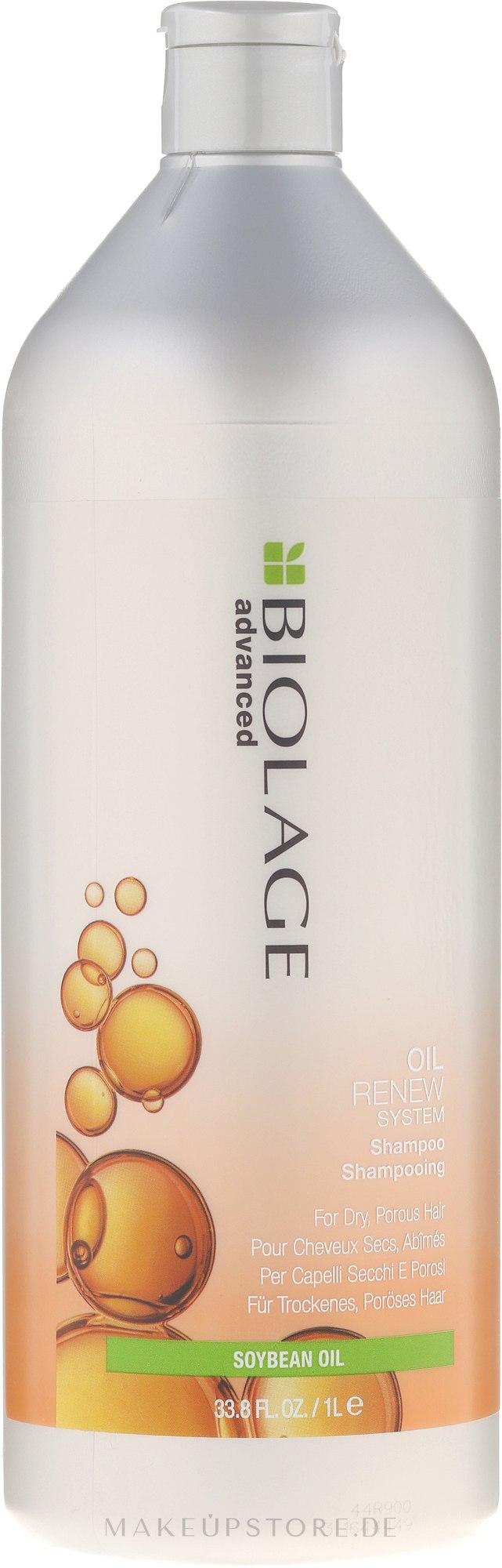 Revitalisierendes Shampoo für stark strukturgeschädigtes und brüchiges Haar - Biolage Advanced Oil Renew Shampoo — Bild 1000 ml