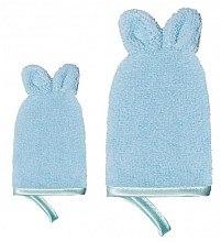 Handschuh-Set zur Gesichtsreinigung - Glov Kids Happy Cleaning Set Blue (Handschuh groß 1 St. + Handschuh klein 1 St.) — Bild N2