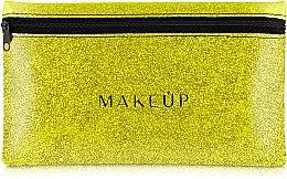 Düfte, Parfümerie und Kosmetik Kosmetiktasche Glitter Pouch goldfarbig 22x13 cm - MakeUp