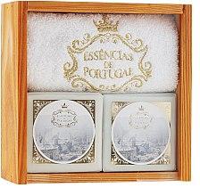 Düfte, Parfümerie und Kosmetik Naturseifen-Geschenkset - Essencias De Portugal Supreme Ancient Soaps Wooden Box Limited Edition (Handgemachte Naturseifen 2x200g + Handtuch)