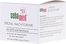 Düfte, Parfümerie und Kosmetik Regenerierende Nachtcreme mit Q10 und Panthenol - Sebameda Q10 Night Cream