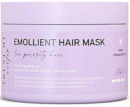 Düfte, Parfümerie und Kosmetik Aufweichende Maske mit Kokosnussöl, Shea- und Kakaobutter für Haar mit niedriger Porosität - Trust My Sister Low Porosity Hair Emollient Mask