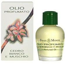 Düfte, Parfümerie und Kosmetik Frais Monde White Cedar And Musk Perfumed Oil - Parfümiertes Öl mit weisser Zeder und Moschus