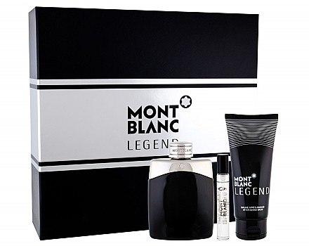 Montblanc Legend - Duftset (Eau de Toilette/100ml+After Shave Balsam/balm/100ml+Eau de Toilette/Mini/7.5ml) — Bild N1