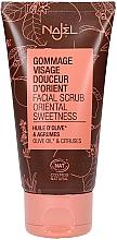 Düfte, Parfümerie und Kosmetik Gesichtspeeling mit Bio Olivenöl und grüner Tonerde - Najel Face Scrub Oriental Sweetness