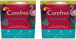 Düfte, Parfümerie und Kosmetik Slipeinlagen 2x56 St. - Carefree Cotton Feel