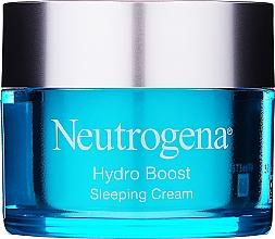 Düfte, Parfümerie und Kosmetik Feuchtigkeitsspendende Nachtcreme für das Gesicht mit Hyaluronsäure und pflanzlicher Trehalose - Neutrogena Hydro Boost Sleeping Cream