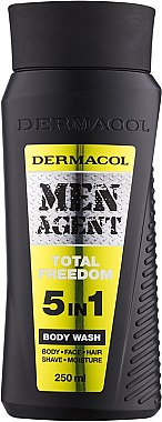Duschgel - Dermacol Men Agent Total Freedom 5in1 Body Wash — Bild N1