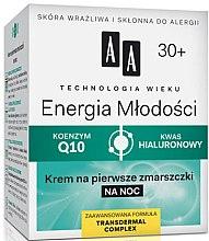 Düfte, Parfümerie und Kosmetik Anti-Falten Nachtcreme mit Hyaluronsäure 30+ - AA Cosmetics Age Technology Smoothing And Nourishing Night Cream