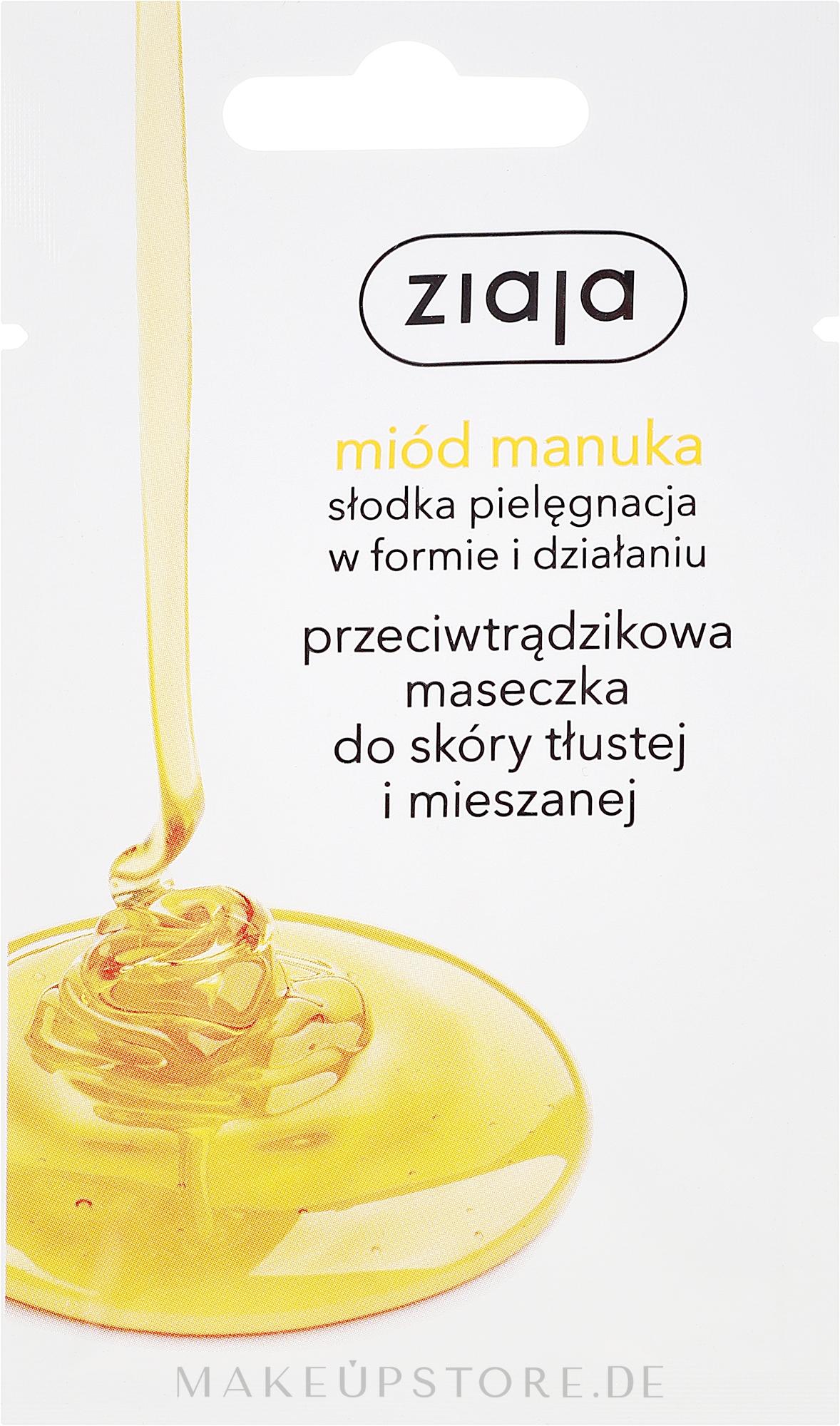 Gesichtsmaske gegen Akne mit Manuka-Honig - Ziaja — Bild 7 ml