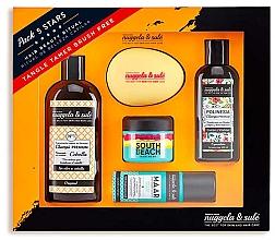 Düfte, Parfümerie und Kosmetik Haarpflegeset - Nuggela & Sule Set (Shampoo 100ml + Shampoo 250ml + Haarmaske 50ml + Haarspray 53ml + Haarbürste)