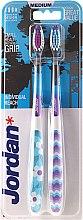 Düfte, Parfümerie und Kosmetik Zahnbürste mittel Individual Reach lila, blau 2 St. - Jordan Individual Reach Medium