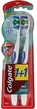 Zahnbürste weich Whole Mouth Clean blau, orange 2 St. - Colgate 360 Whole Mouth Clean Soft — Bild N1