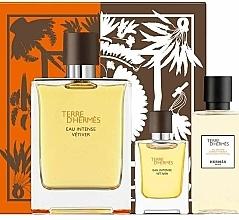 Düfte, Parfümerie und Kosmetik Hermes Terre d'Hermes Eau Intense Vetiver - Duftset (Eau de Parfum 100ml + Duschgel 40ml + Eau de Parfum 5ml)