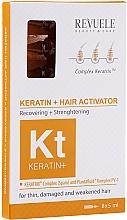 Düfte, Parfümerie und Kosmetik Regenerierendes und stärkendes Haarserum mit Keratin in Ampullen für dünnes, stapaziertes und schwaches Haar - Revuele Keratin+ Ampoules Hair Restoration Activator