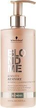 Düfte, Parfümerie und Kosmetik Haarspülung - Schwarzkopf Professional BlondMe Keratin Restore Bonding Cleansing Conditioner