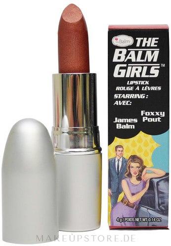 Lippenstift - theBalm Girls Lipstick — Bild Foxxy Pout - Bold Metallic Bronze