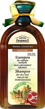 """Shampoo für trockenes und geschädigtes Haar """"Arganöl und Granatapfel"""" - Green Pharmacy — Bild N1"""